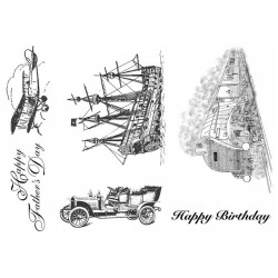 Transport Rubber Stamp Set