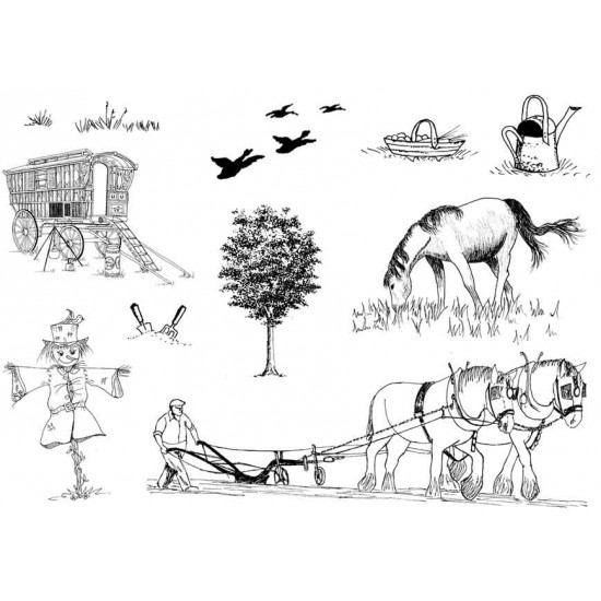 Gypsy Caravan No.2 Rubber Stamp Set