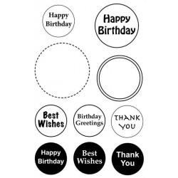 Sentiment Circles No.1 Rubber Stamp Set