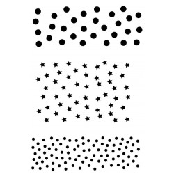 Dots and Stars Backgrounds Rubber Stamp Set