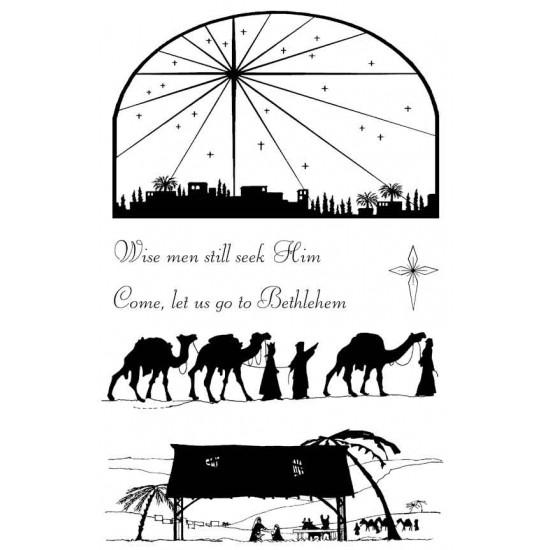 Bethlehem silhouettes Rubber Stamp Set
