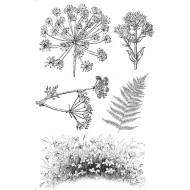 Wildflowers rubber Stamp Set