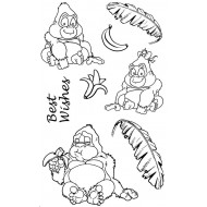 Gorillas Rubber Stamp Set