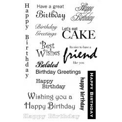 Birthday Greetings Rubber Stamp Set