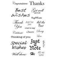 Special Wishes Rubber Stamp Set