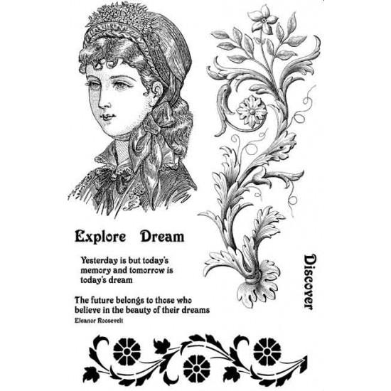 Emma Victorian Rubber Stamp Set - ON SALE