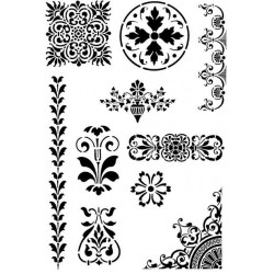 Solid Motifs Rubber Stamp Set - ON SALE