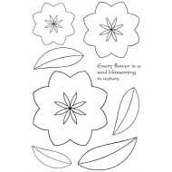 Sarah's 3D Flowers Rubber Stamp Set - ON SALE