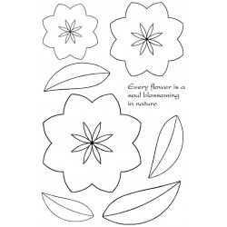 Sarah's 3D Flowers Rubber Stamp Set