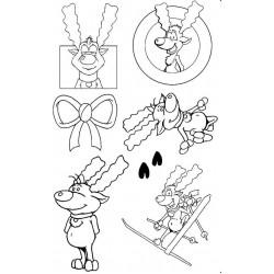 Rodney Reindeer Rubber Stamp Set - SALE