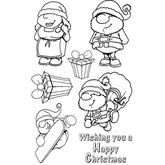 Mr & Mrs Claus Santa Rubber Stamp Set - SALE