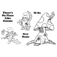 A Home for Gnomes Rubber Stamp Set