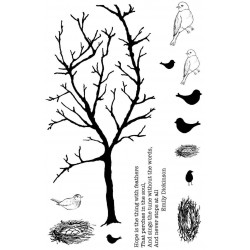 Spring Branch rubber stamp set