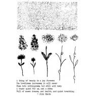 Textured Floral Rubber Stamp Set
