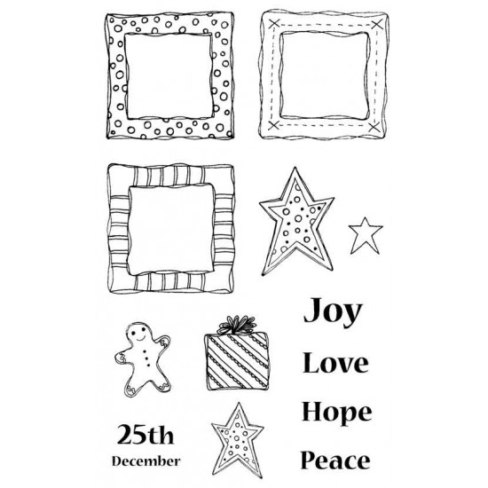 Christmas Trio Rubber Stamp Set