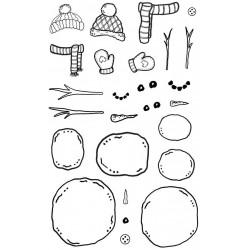 Design A Snowman Rubber Stamp Set