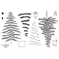 Trim the Tree Rubber Stamp Set