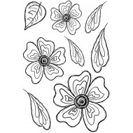 Groovy Blooms Unmounted Rubber Stamp Set