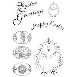 Easter Chickers Rubber stamp set