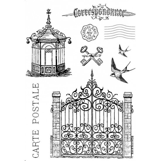 Parisian Chic Rubber Stamp Set