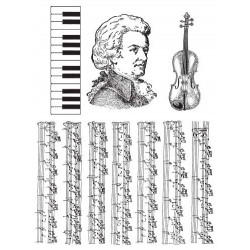 Music rubber stamp set by JudiKins