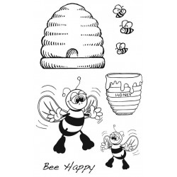 Bee Happy Rubber stamp set