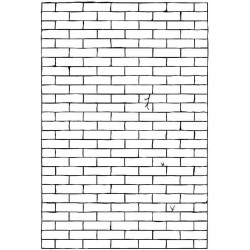 Brick Wall rubber stamp