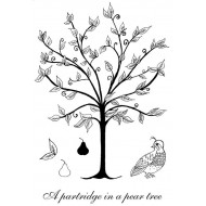 Partridge & Pear Tree rubber stamp set