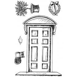 Front Door rubber stamp set