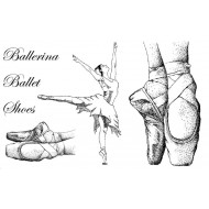 Ballet Shoes rubber stamp set