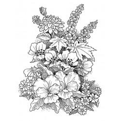 Floral Bloom rubber stamp