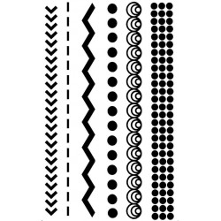 Solid Borders Rubber Stamp Set