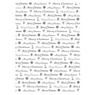 Christmas Words Background Rubber Stamp
