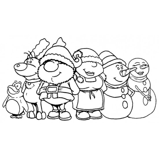 Claus & Friends Rubber Stamp