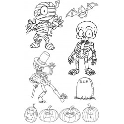 Halloween rubber Stamp Set