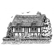 Thatched Cottage Cling Rubber Stamp