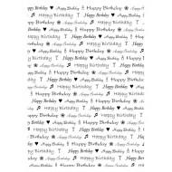 Birthday Text background rubber stamp