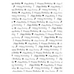Birthday Text background rubber stamp