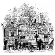 Village Inn Pub rubber stamp