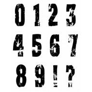 Distressed Numbers Rubber Stamp Set