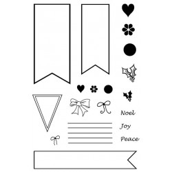 Banners Rubber Stamp Set