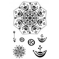 3D Snowflake Rubber Stamp Set