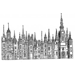 Tall Buildings Rubber Stamp