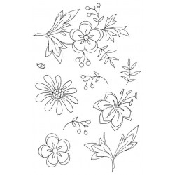 Floral Fancy 1 Rubber Stamp Set