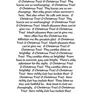 O Christmas Tree Rubber stamp