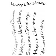Christmas Wavy Words Rubber Stamp Set