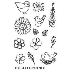 Spring Fling Rubber Stamp Set
