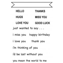 Short and  Sweet Sentiments Rubber Stamp Set