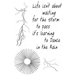 Dance in the Rain rubber stamp Set