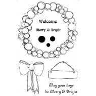 Bauble Wreath Rubber Stamp Set